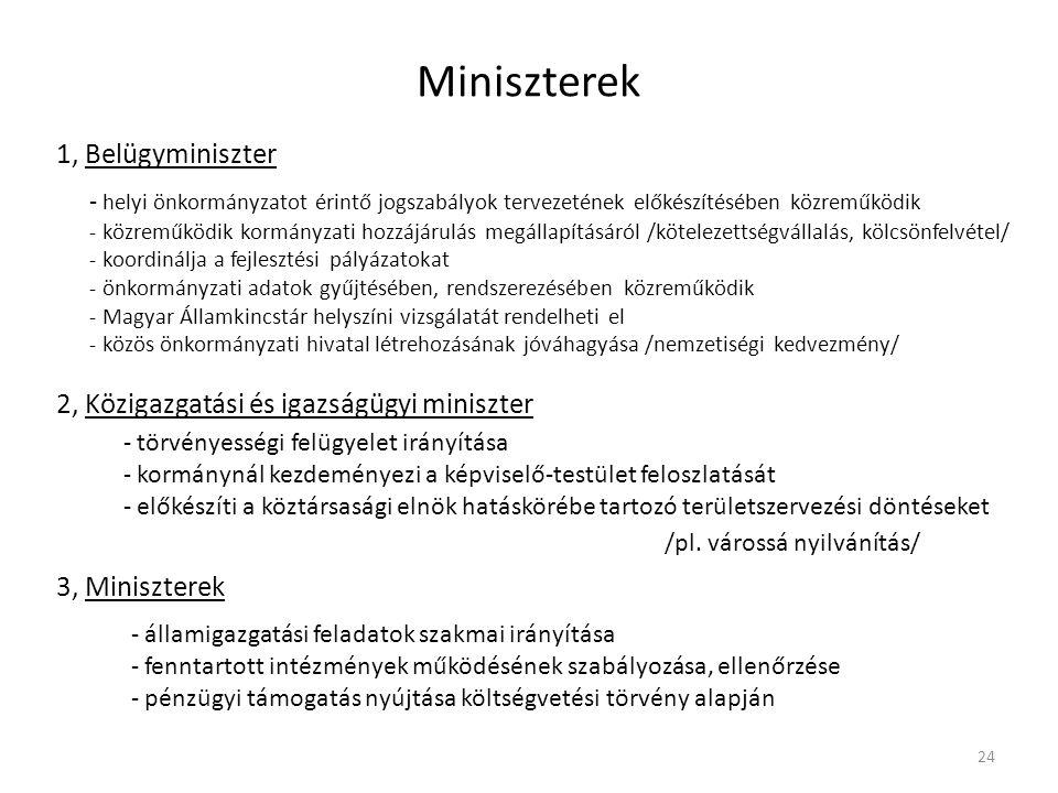 Miniszterek 1, Belügyminiszter