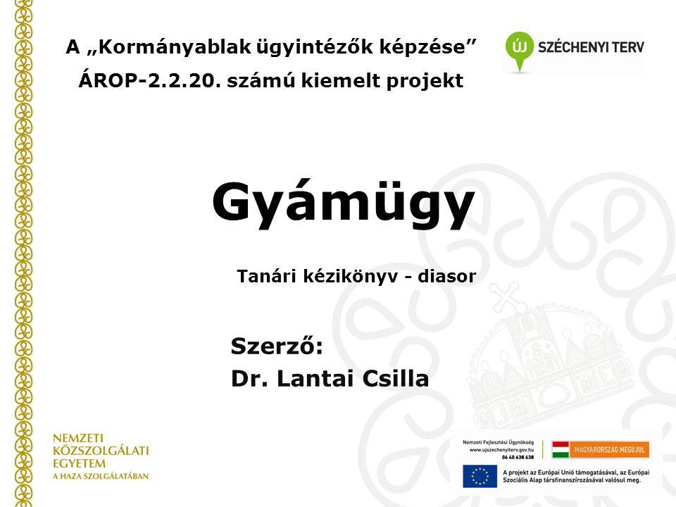 Szerző: Dr. Lantai Csilla