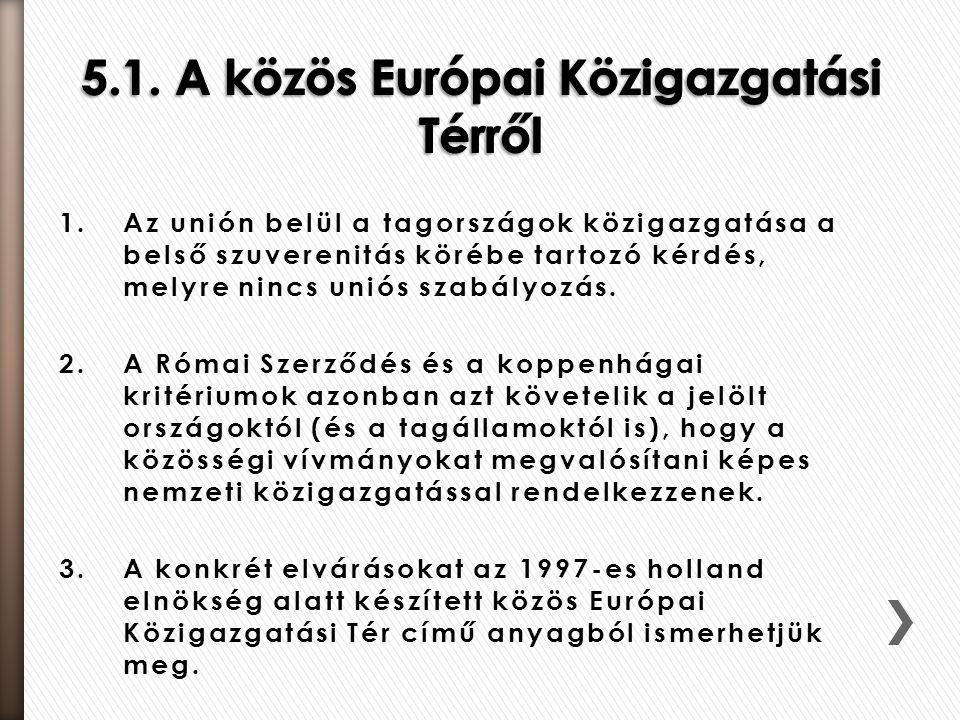 5.1. A közös Európai Közigazgatási Térről