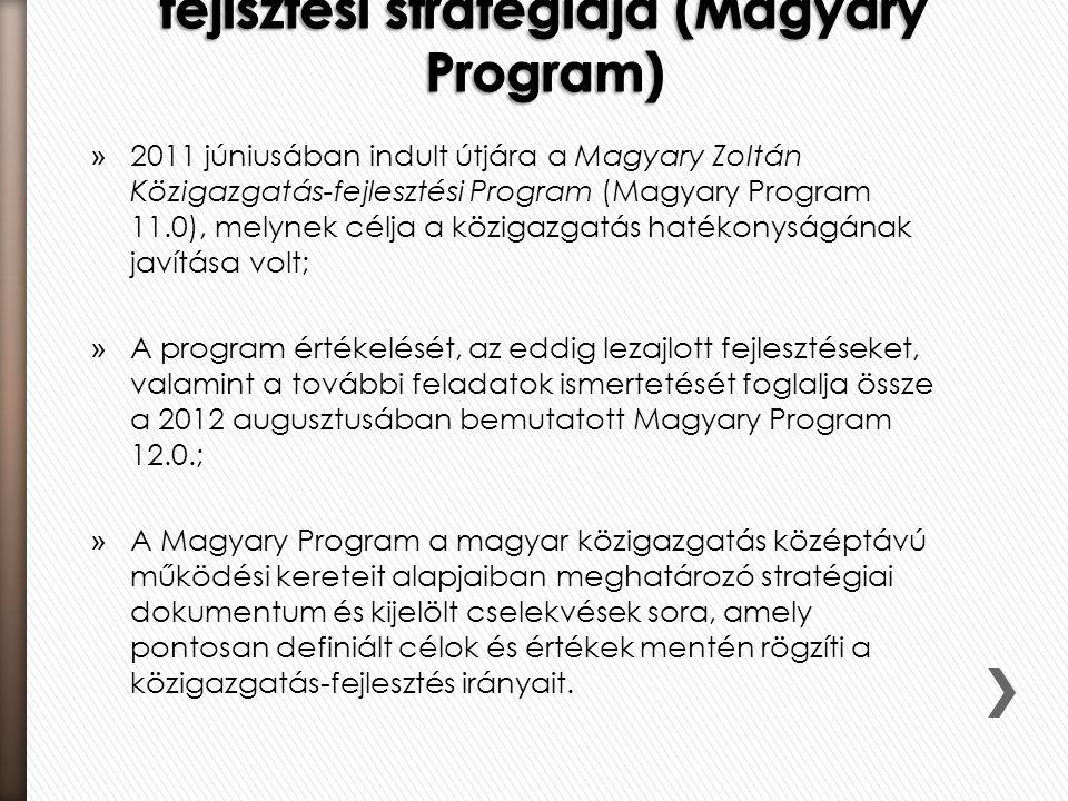 5.3. Hazánk közigazgatás-fejlsztési stratégiája (Magyary Program)