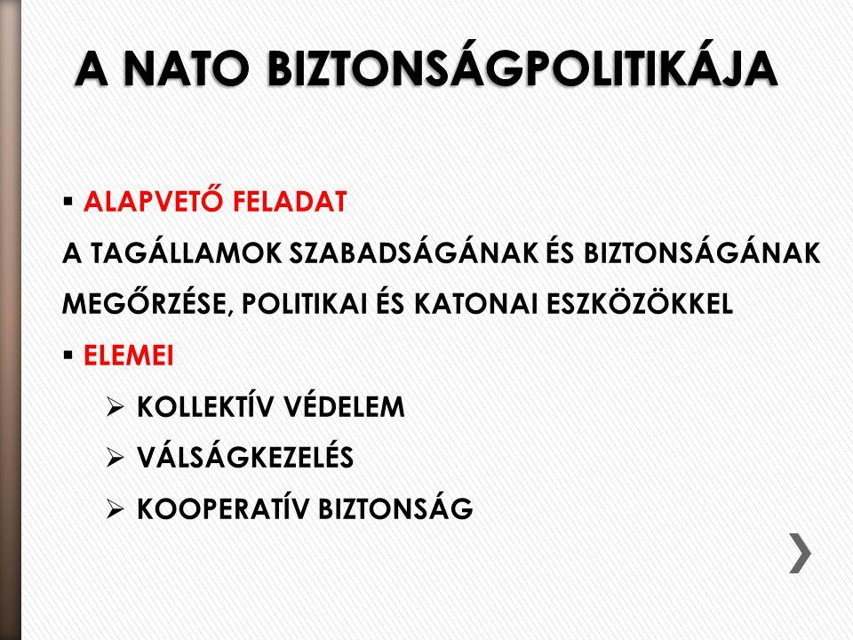 A NATO BIZTONSÁGPOLITIKÁJA
