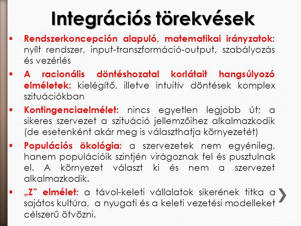 Integrációs törekvések