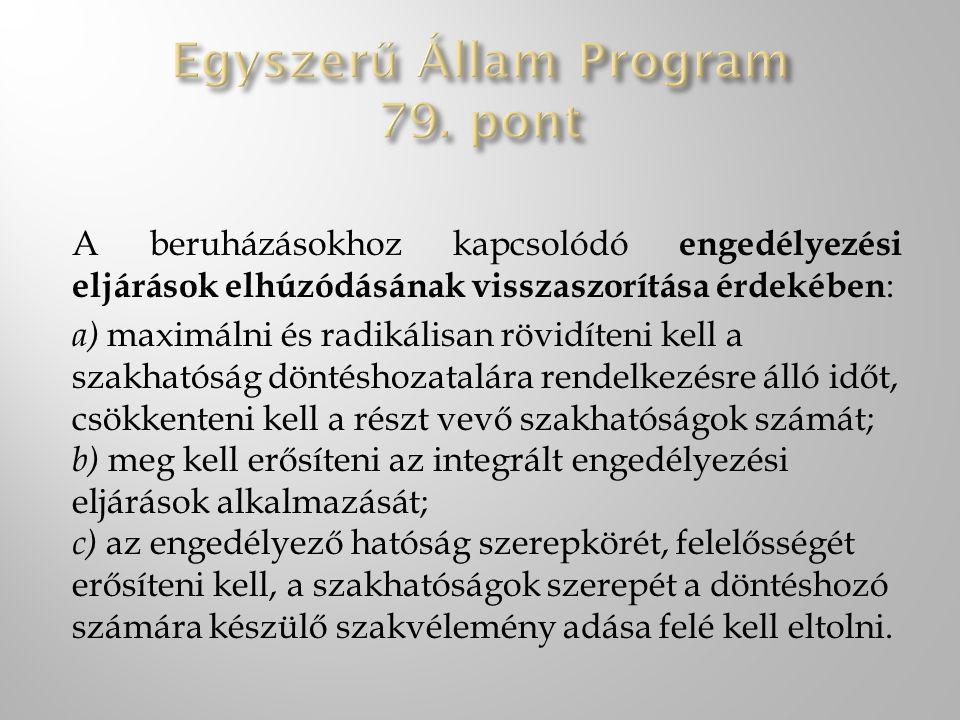 Egyszerű Állam Program 79. pont