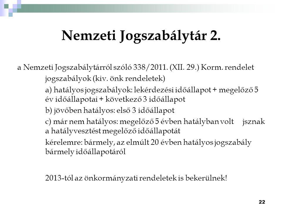 Nemzeti Jogszabálytár 2.