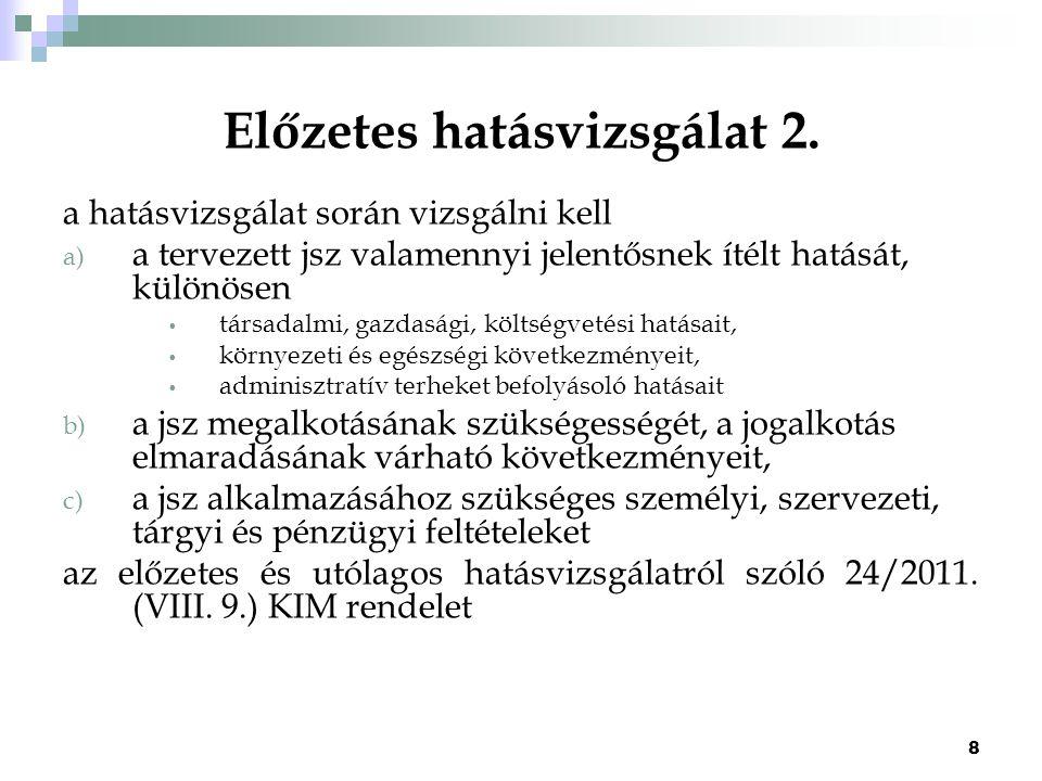 Előzetes hatásvizsgálat 2.