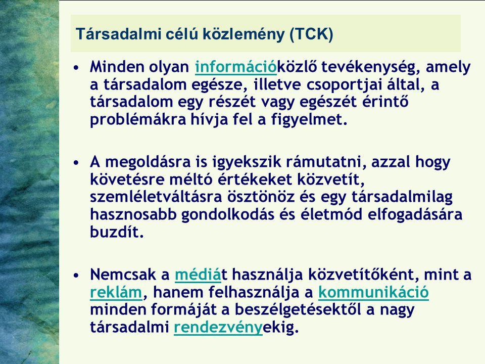 Társadalmi célú közlemény (TCK)