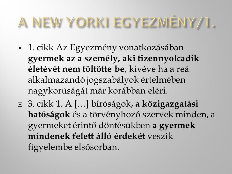 A NEW YORKI EGYEZMÉNY/1.