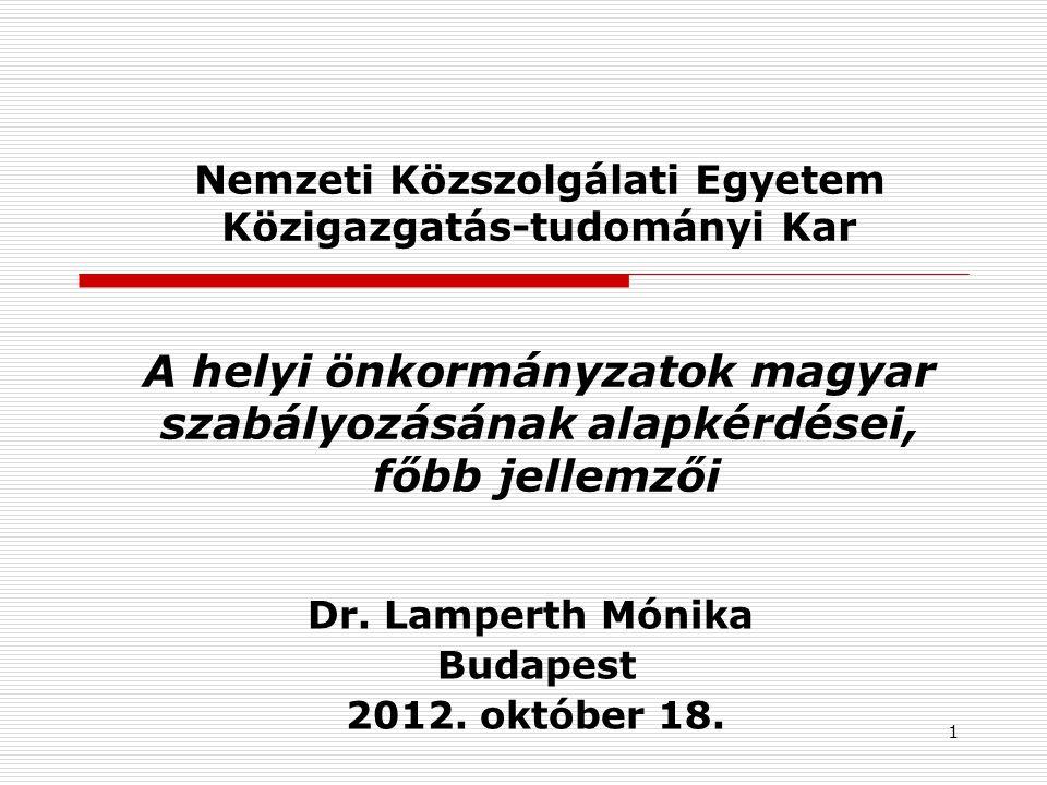 Dr. Lamperth Mónika Budapest 2012. október 18.