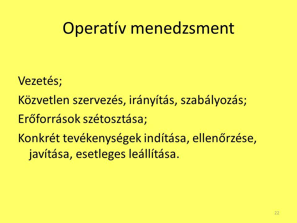 Operatív menedzsment