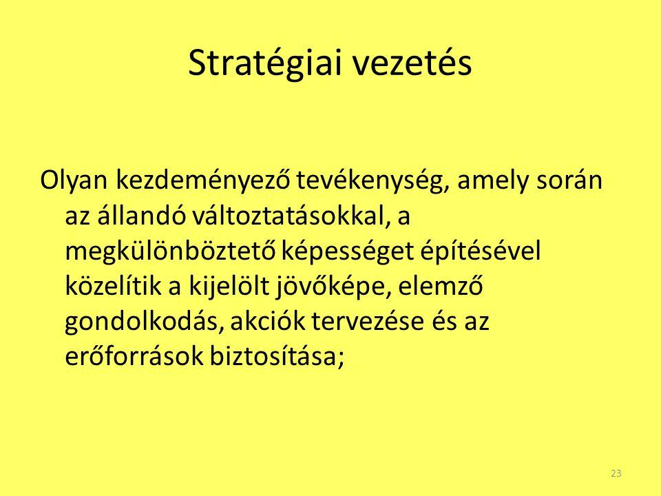 Stratégiai vezetés