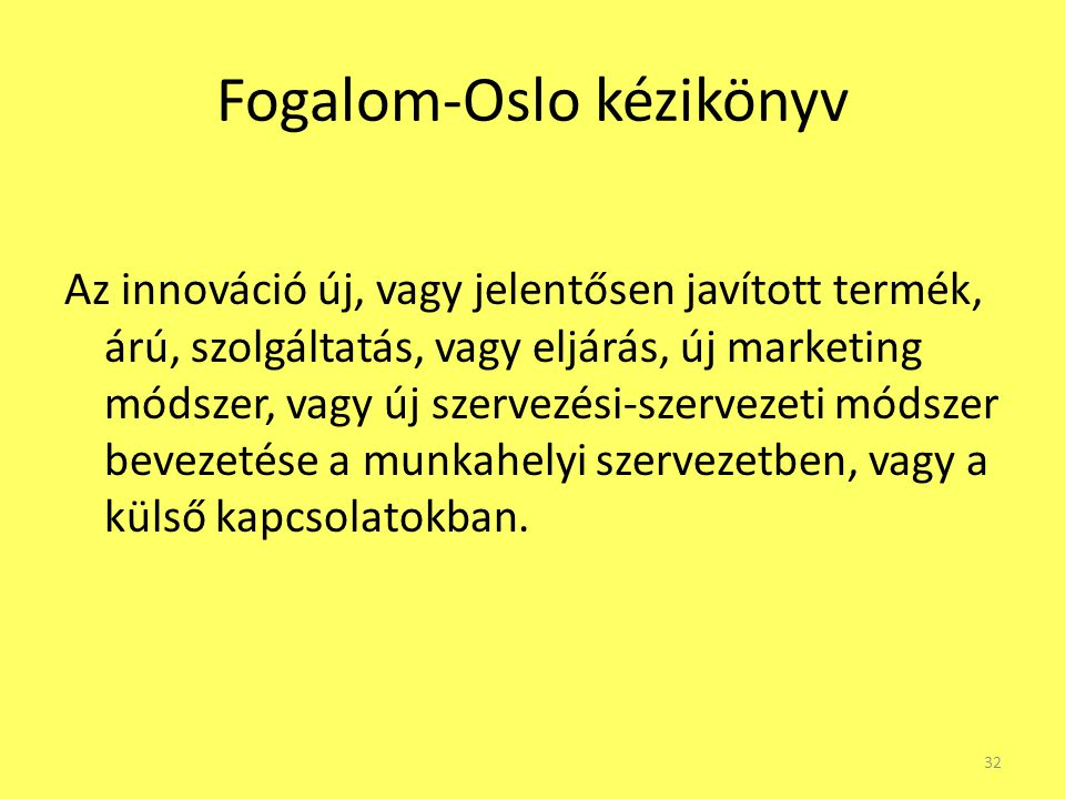 Fogalom-Oslo kézikönyv