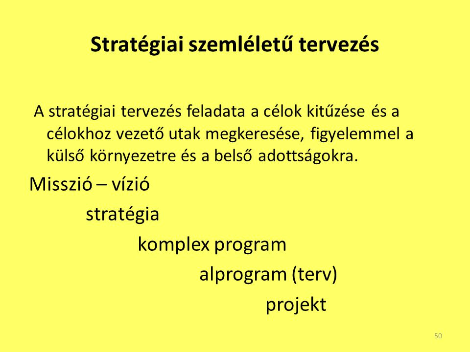 Stratégiai szemléletű tervezés