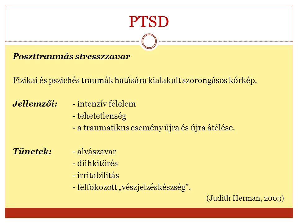 PTSD Poszttraumás stresszzavar