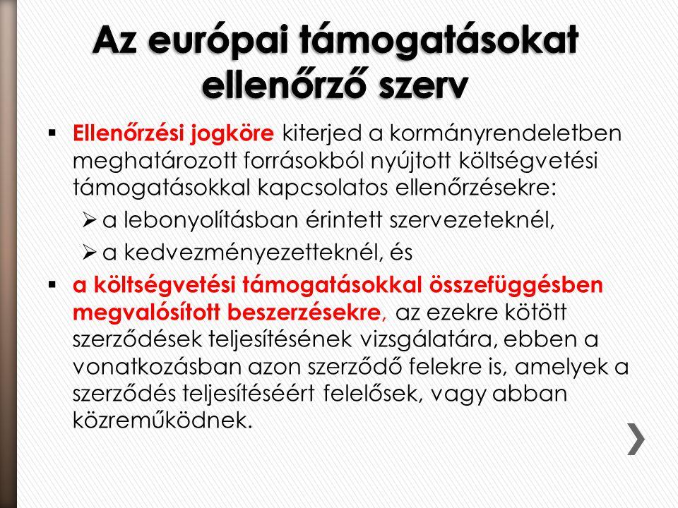 Az európai támogatásokat ellenőrző szerv