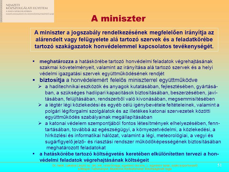 A miniszter