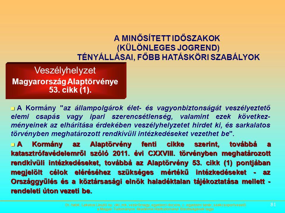 Magyarország Alaptörvénye 53. cikk (1).