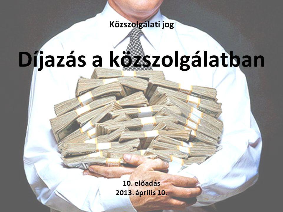 Közszolgálati jog Díjazás a közszolgálatban 10. előadás 2013