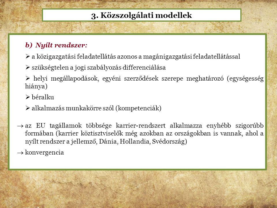 3. Közszolgálati modellek