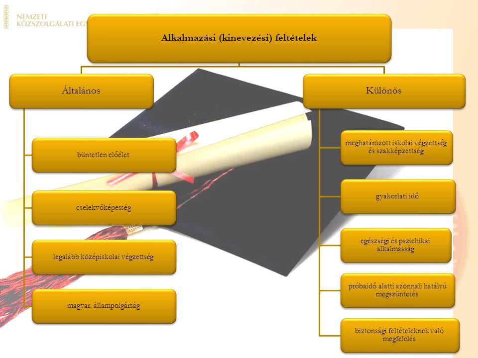 Alkalmazási (kinevezési) feltételek