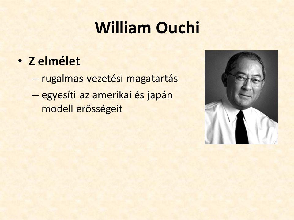 William Ouchi Z elmélet rugalmas vezetési magatartás