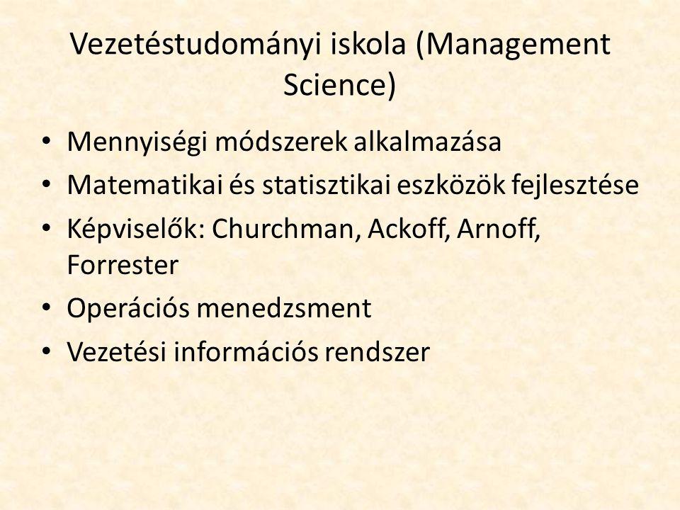 Vezetéstudományi iskola (Management Science)