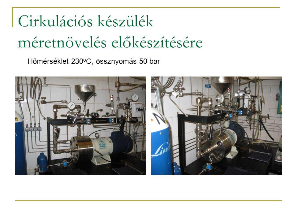 Cirkulációs készülék méretnövelés előkészítésére