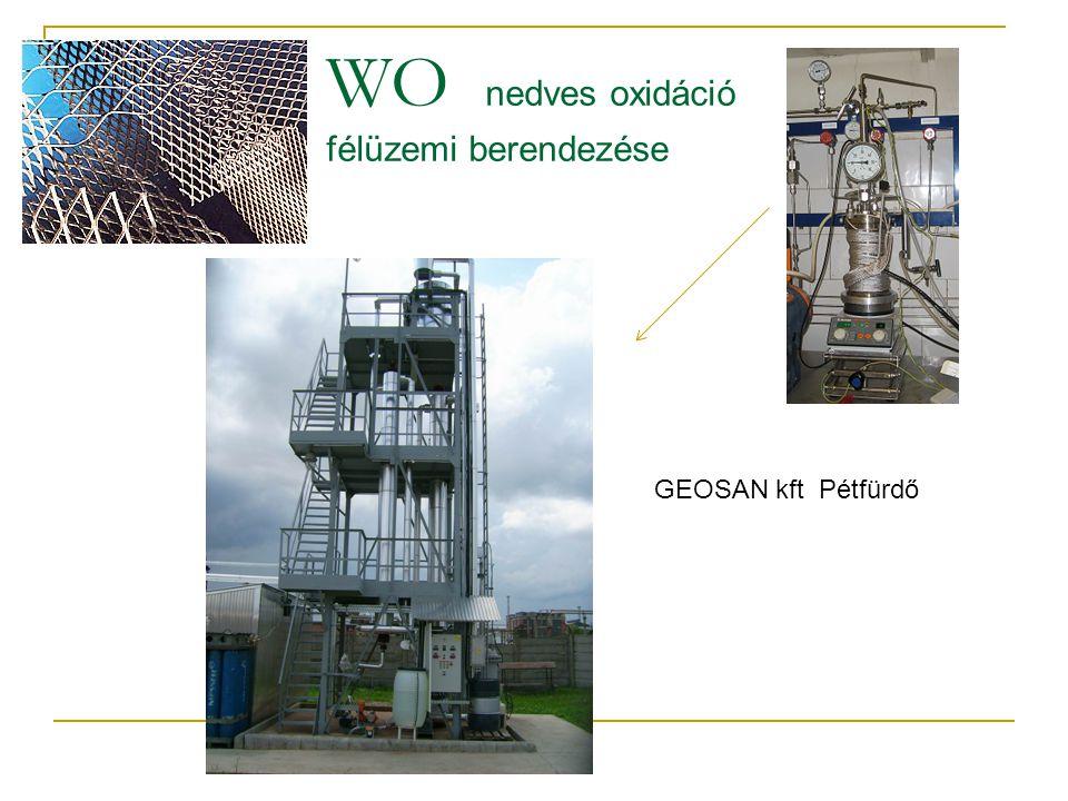 WO nedves oxidáció félüzemi berendezése