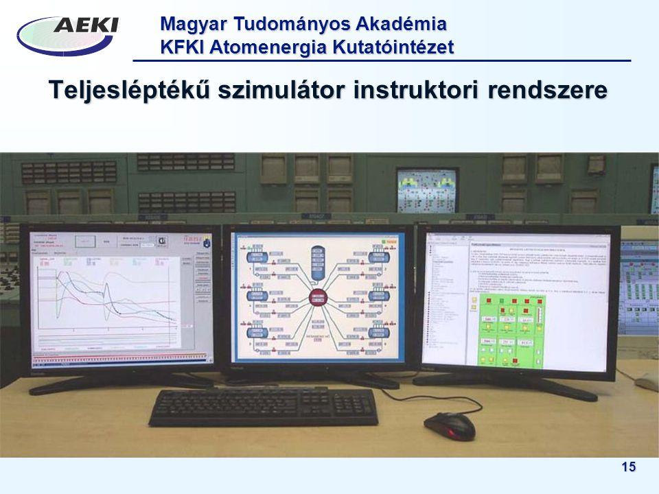 Teljesléptékű szimulátor instruktori rendszere