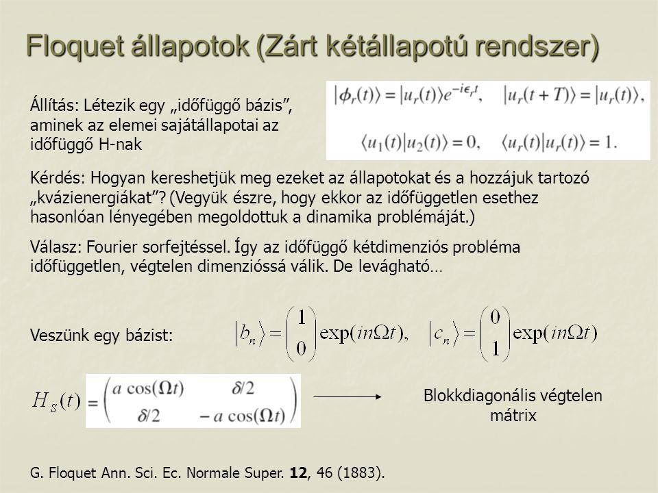 Blokkdiagonális végtelen mátrix