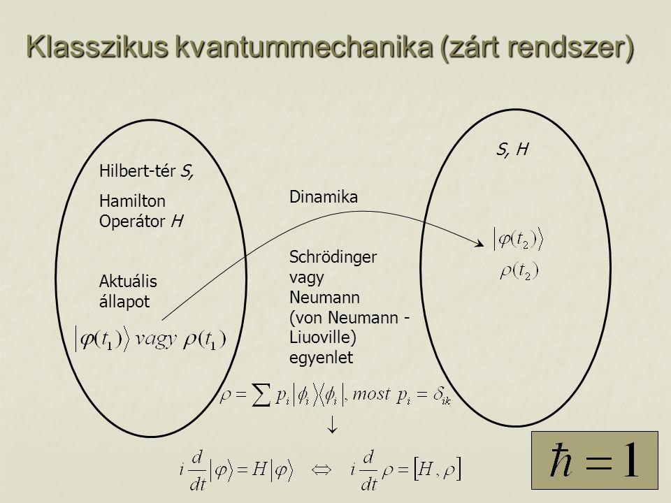 Klasszikus kvantummechanika (zárt rendszer)