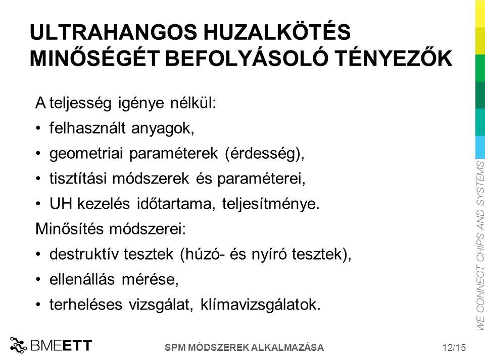 ULTRAHANGOS HUZALKÖTÉS MINŐSÉGÉT BEFOLYÁSOLÓ TÉNYEZŐK