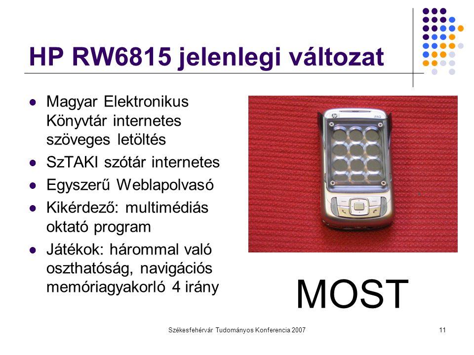 HP RW6815 jelenlegi változat