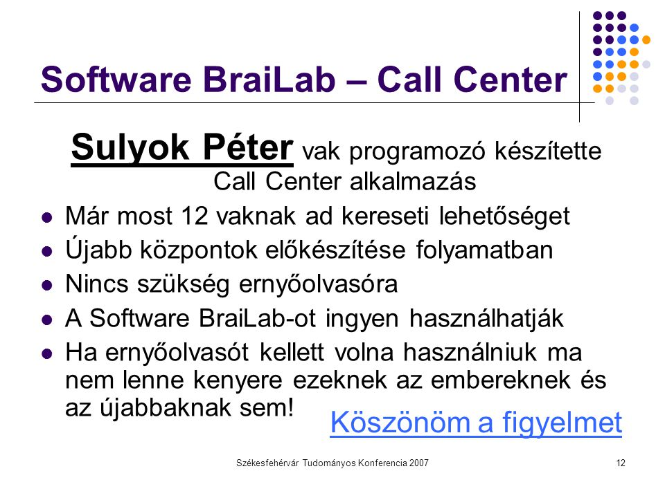 Software BraiLab – Call Center