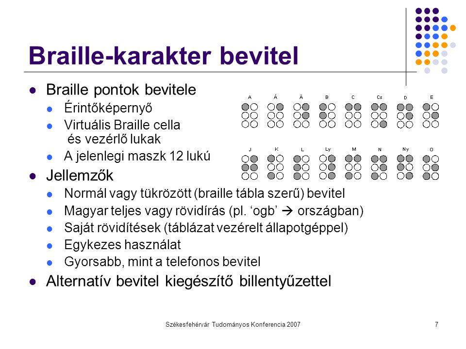 Braille-karakter bevitel