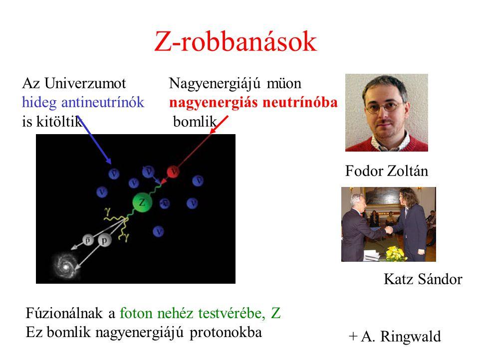 Z-robbanások Az Univerzumot hideg antineutrínók is kitöltik