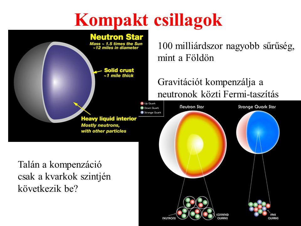 Kompakt csillagok 100 milliárdszor nagyobb sűrűség, mint a Földön