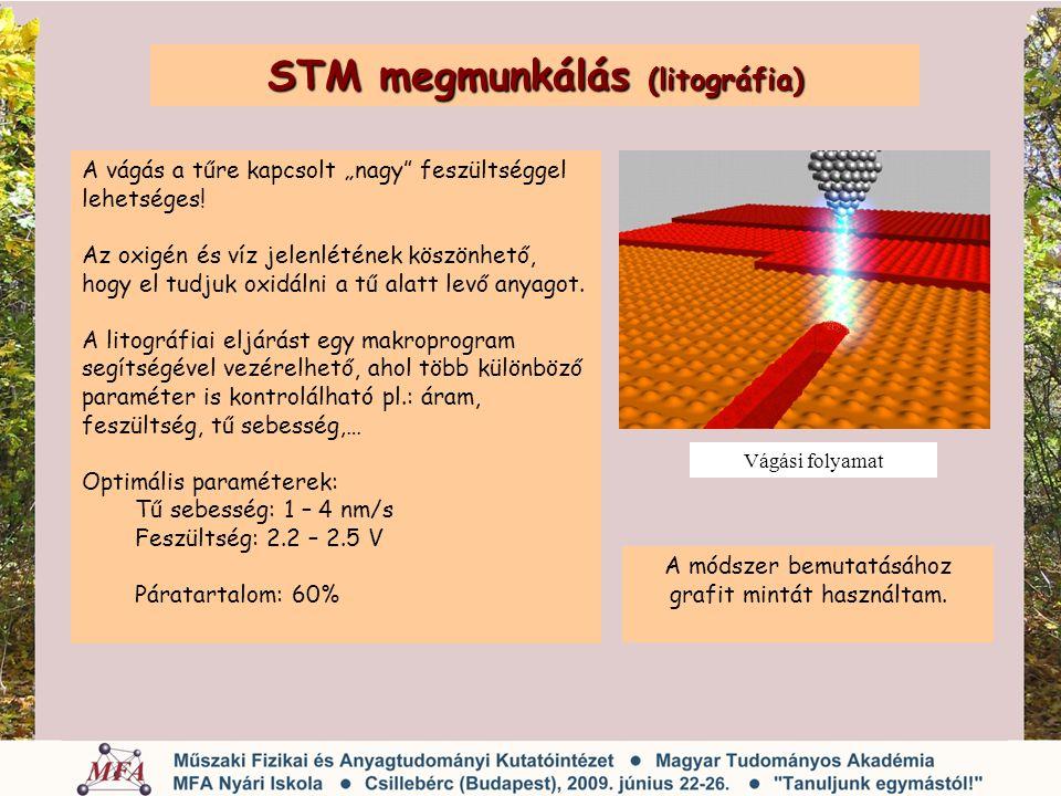 STM megmunkálás (litográfia)