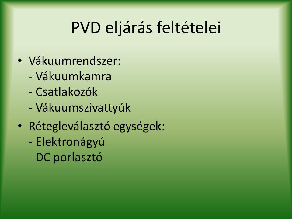 PVD eljárás feltételei
