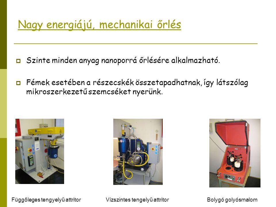 Nagy energiájú, mechanikai őrlés