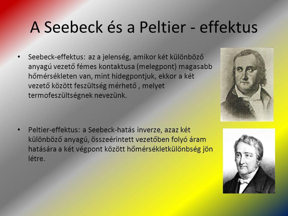 A Seebeck és a Peltier - effektus