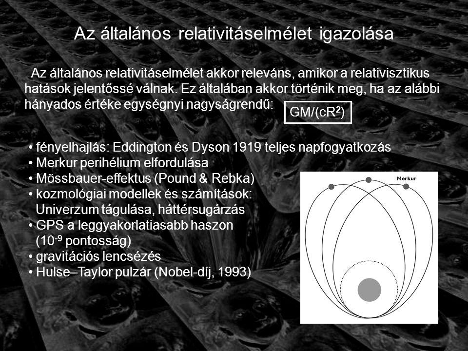 Az általános relativitáselmélet igazolása