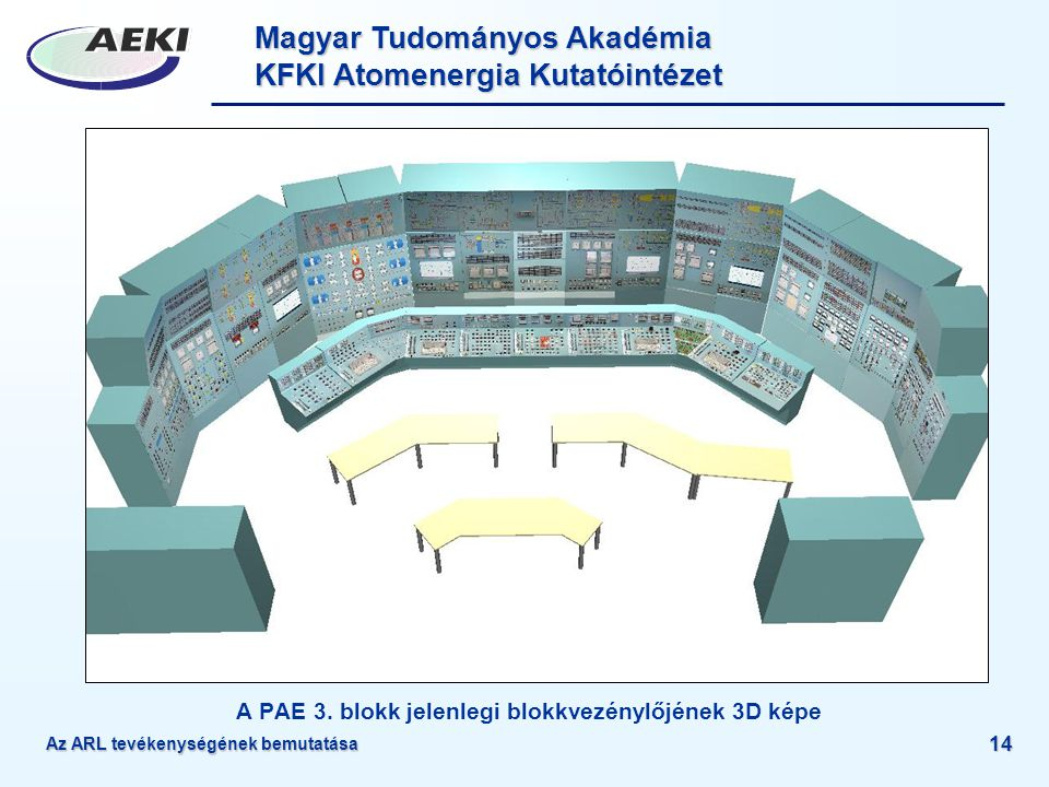 A PAE 3. blokk jelenlegi blokkvezénylőjének 3D képe