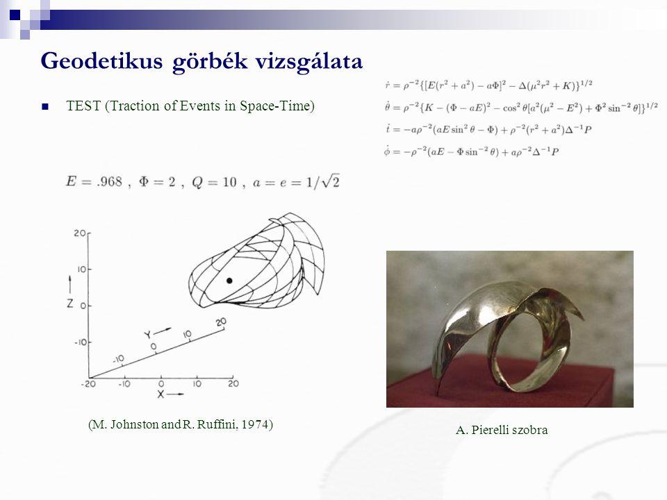 Geodetikus görbék vizsgálata