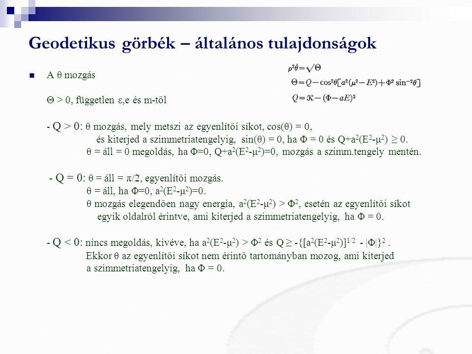Geodetikus görbék – általános tulajdonságok