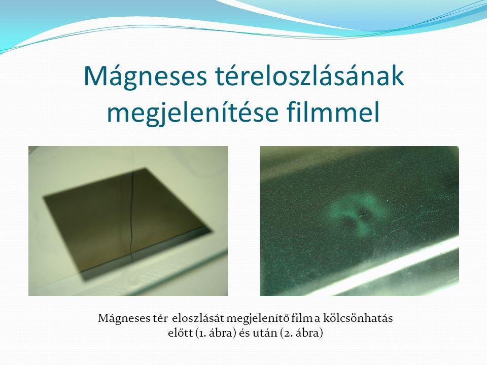 Mágneses téreloszlásának megjelenítése filmmel