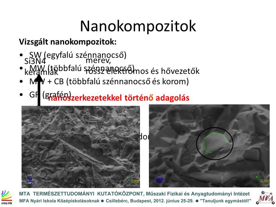 Nanokompozitok Vizsgált nanokompozitok: SW (egyfalú szénnanocső)