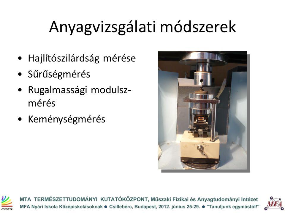 Anyagvizsgálati módszerek