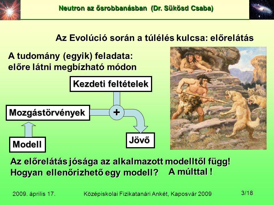 + Az Evolúció során a túlélés kulcsa: előrelátás