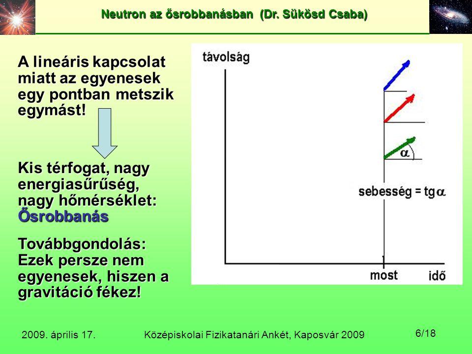 A lineáris kapcsolat miatt az egyenesek egy pontban metszik egymást!