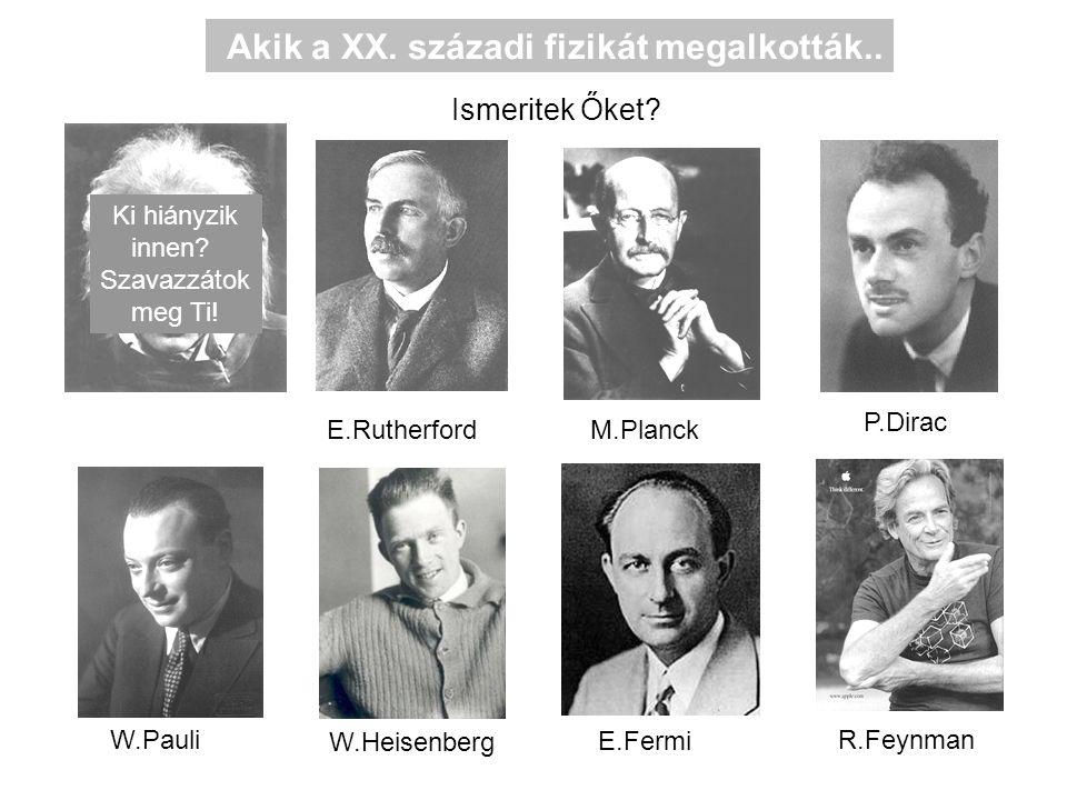 Akik a XX. századi fizikát megalkották..